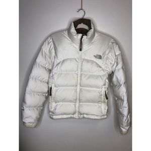 North Face White 700 Fill Puffy Jacket - size XS